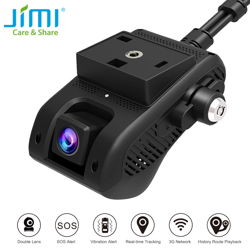 US $159 99 20% OFF|JIMI Unique JC200 3G GPS Tracker Dual Lens Dash Camera  With Live stream video by Website APP Car Smart Cam SOS WiFi Oil Cut off-in