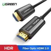 UGREEN HDMI кабель 4 К 60 Гц волоконно оптический кабель HDMI 2,0 2.0a 2.0b HDR для HD ТВ коробка Xiaomi проектор PS4 кабель HDMI 10 м 15 м 20 м 30 м