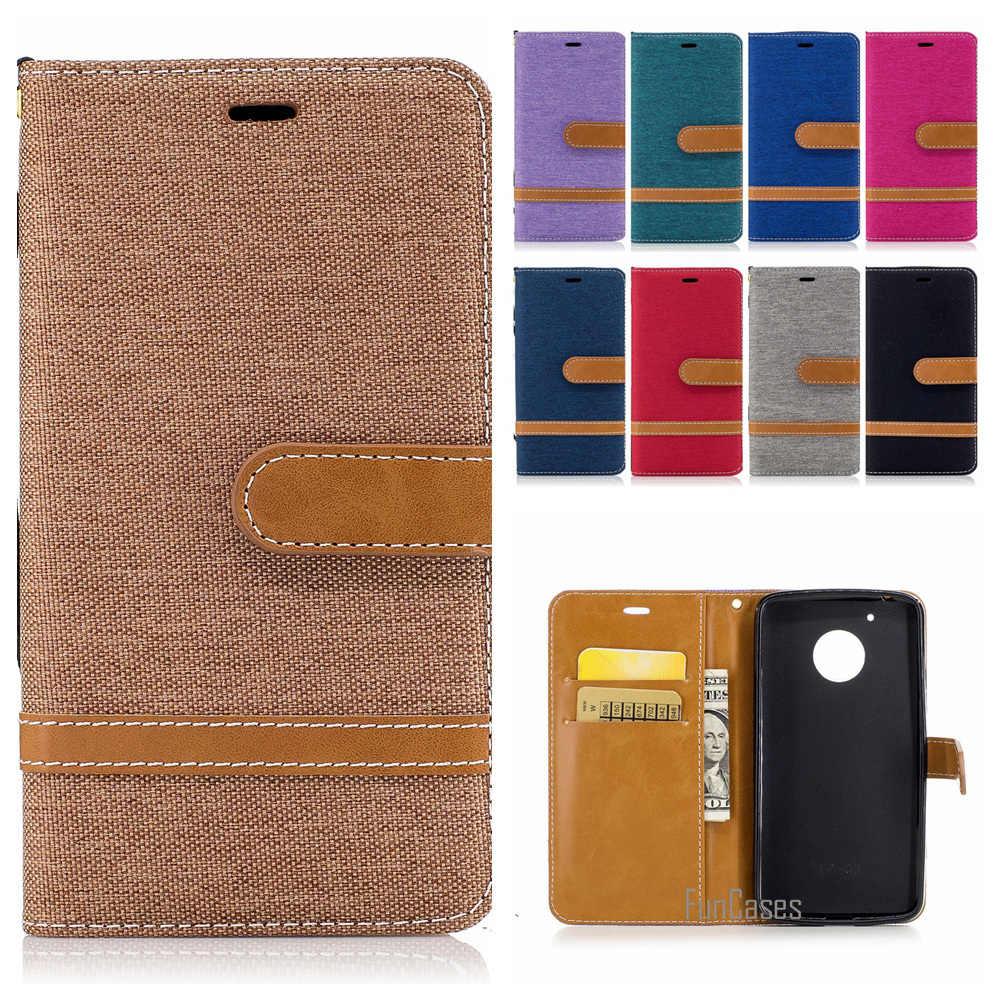 Standar Colorful Magnetic Dompet Case untuk Motorola MOTO G5 Plus Denim Jeans Stand Case untuk Motorola MOTO G4 PLUS Desain tas Telepon