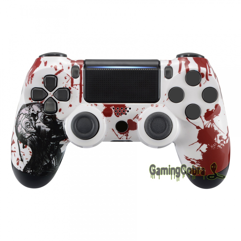 Zombie Blood Patterned Repair Top <font><b>Shell</b></font> for PS4 Pro&Slim Controller <font><b>JDM</b></font>-040 <font><b>JDM</b></font>-050 <font><b>JDM</b></font>-<font><b>055</b></font> #SP4FT14 image