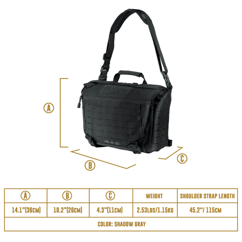 OneTigris HU Tactical Messenger Bag Military Army Crossbody Bags For Men Outdoor Molle Laptop Bag for the Urban Wild