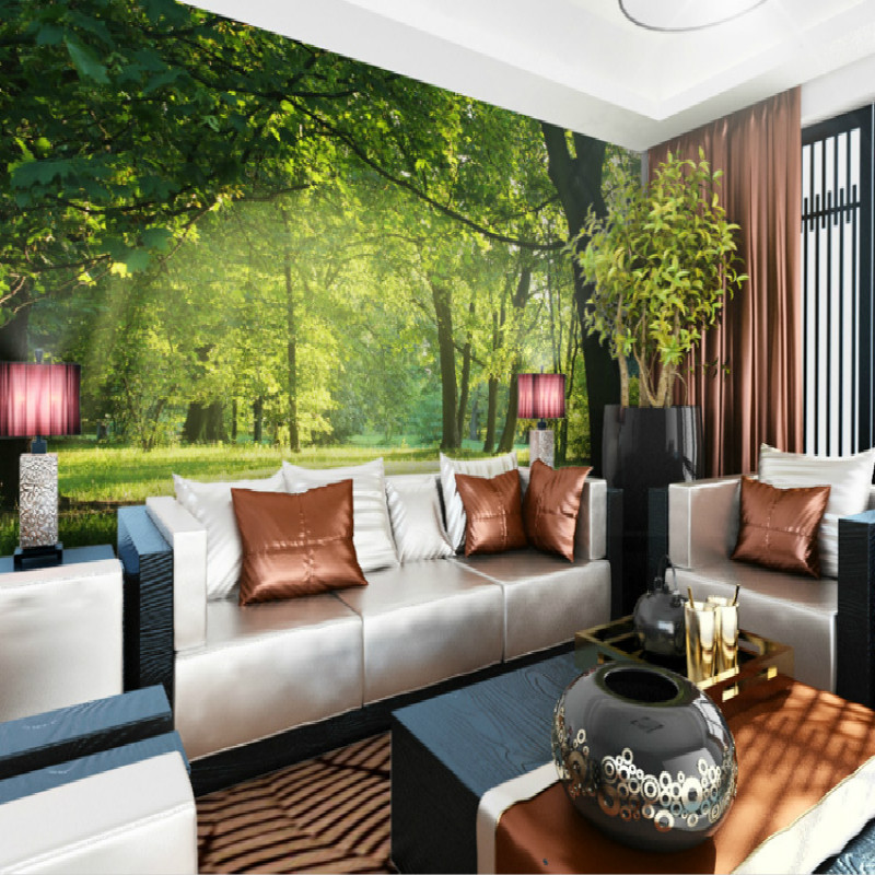 Elegant Aliexpress.com : Buy Photo 3D Wallpaper For Wall 3d Mural Wallpaper Forest  Garden Living Room Modern Background TV Setting Wall Large Mural Bedroom  From ... Part 22
