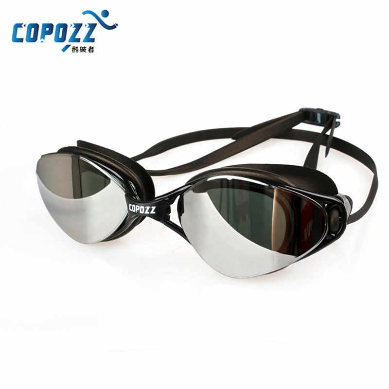 COPOZZ New Professional Swimming Goggles Anti-Fog UV Adjustable Plating men women Waterproof silicone glasses adult Eyewear