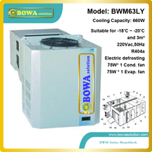 3M3 freezer room condensint unit with air cooler assemblied together suitable for mobile cold room and