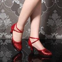 New Stylish Soft Sexy Comfortable Satin Salsa Latin Zapatos De Baile Latino Mujer Women Sneakers Dance