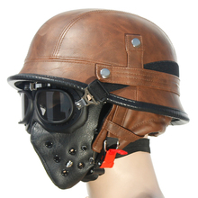 LDMET moto rcycle casco mezzo del fronte del casco harley casco moto vintage cascos para moto pilot luce estiva retro tedesco