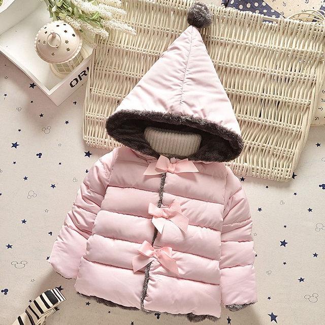 2017 frío Invierno de la muchacha ropa de bebé gruesa chaqueta de algodón caliente abrigos para bebé ropa bebé niñas deportes ocasionales prendas de vestir exteriores abrigos