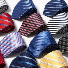 8 cm Neck ties for men luxury 100% silk mens necktie corbata black Gravata Jacquard Slim Tie Business paisley corbatas