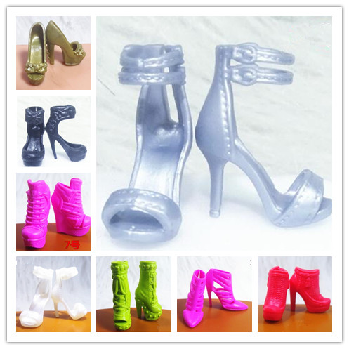 New Arrive Original 1 Pair Doll Shoes And Accessories Flats High Quality Fashion Doll Boots Shoes For Barbie Doll 1/6 Shoes