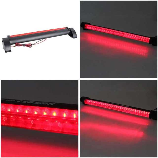 Bostar 24 LED High Mount Stop Rear Tail Warning Light Lamp Red Car Auto Third 3RD Brake Light Parking #279606