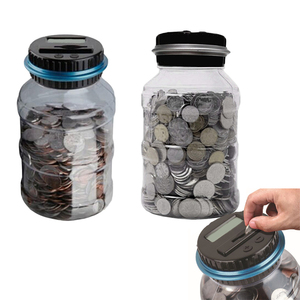 Piggy Bank Counter Coin Electronic Digital LCD Counting Coin box Money Box Jar coin bank Storage Box For USD EURO Money(China)