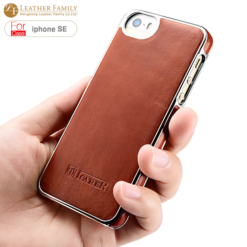 case For iphone SE Original new arrival Electroplating Vintage Back Cover Series Ultra thin pu leather