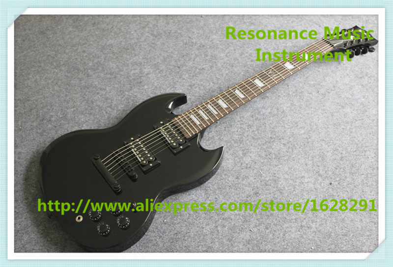 China Custom Shop Glossy Black Finish 7 String SG Electric Guitars Left Handed Available