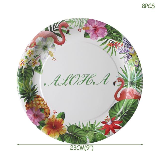 Tropical Palm Leaves Disposable Decoration & Tableware Set