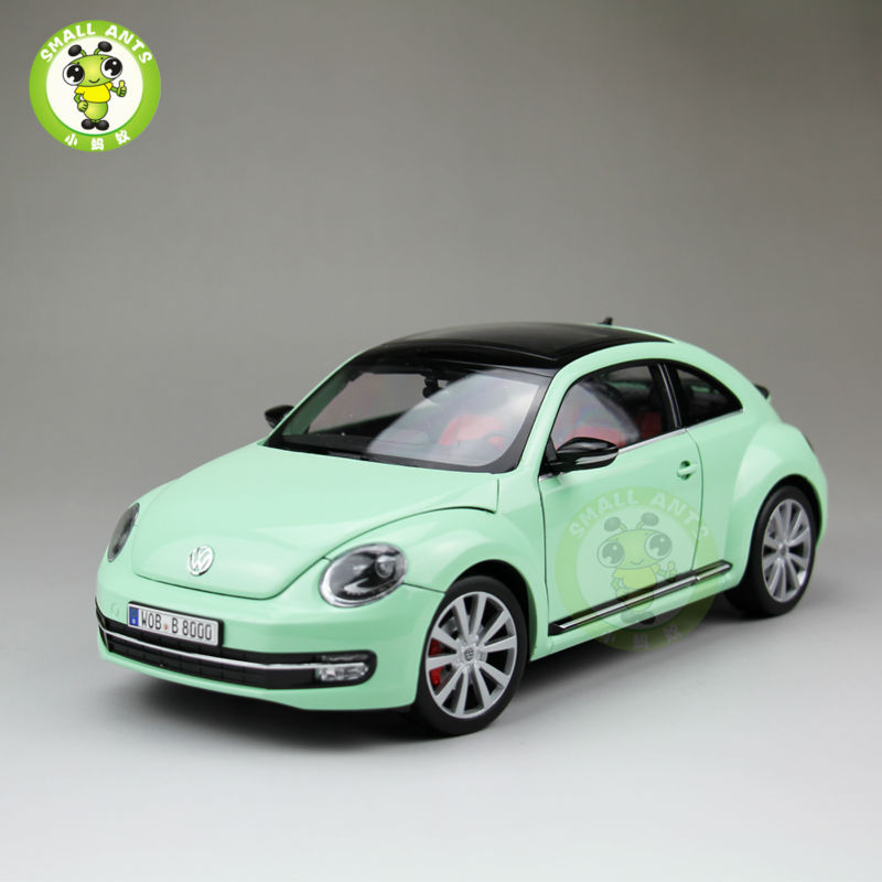 1:18 Scale VW New Beetle Diecast Car Model Toys for Kids Gift Collection Welly FX models Green