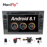 2DIN Android8.1 HD screen 1024*600 Car multimedia player for Opel Astra Vectra Antara Zafira Corsa with radio gps dvd player
