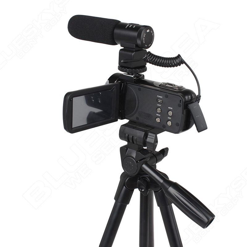 """ORDRO HDV-Z Microphone Camcorder 3.0"""" Touch Screen LCD 24MP 16X Zoom Digital Video Camera 1080P Full HD Wifi Remote Control 26"""
