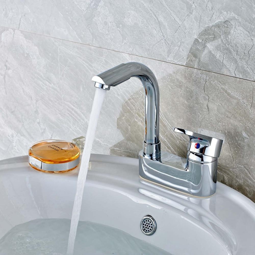 Deck Mount Swivel Spout Bathroom Basin Faucet Single Handle Vanity Mixer Tap New декор lord vanity quinta mirabilia grigio 20x56