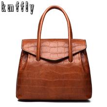Retro oil wax PU Leather Women Handbag Lady Alligator Hobos Bag Patchwork Shoulder Bags Women Large Capacity Sac A Main 2018 New