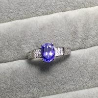 2018 new tanzanite ring for woman natural Tanzanite silver ring Vintage tanzanite wedding ring natural tanzanite jewelry
