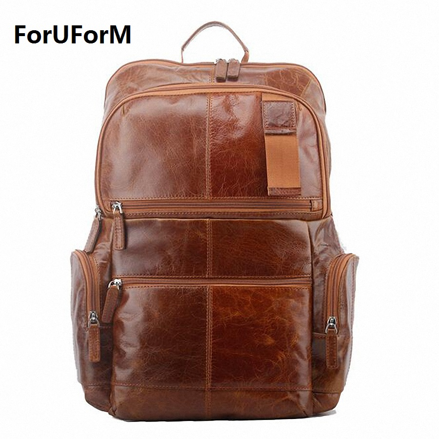 ForUForM Brand Genuine Leather Men Backpack Bags Large Men Travel Bag Luxury Designer Leather School Bag Laptop Backpack LI-1738 new arrival durable quality vacuum cleaner accessories hepa filter for electrolux zs203 zt17635 z1300 213