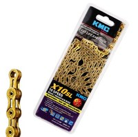 Original KMC X10 SL 116 Connections Gold Ti Bike Bicycle Chain 10 Speed New Edition With