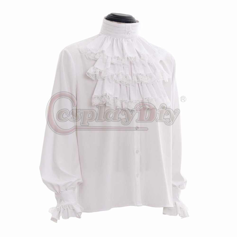 bdfb9640 ... Custom Made Renaissance Gothic Colonial Vampire Gentle Mens Shirt  Medieval Mens Off-White Black Caribbean ...
