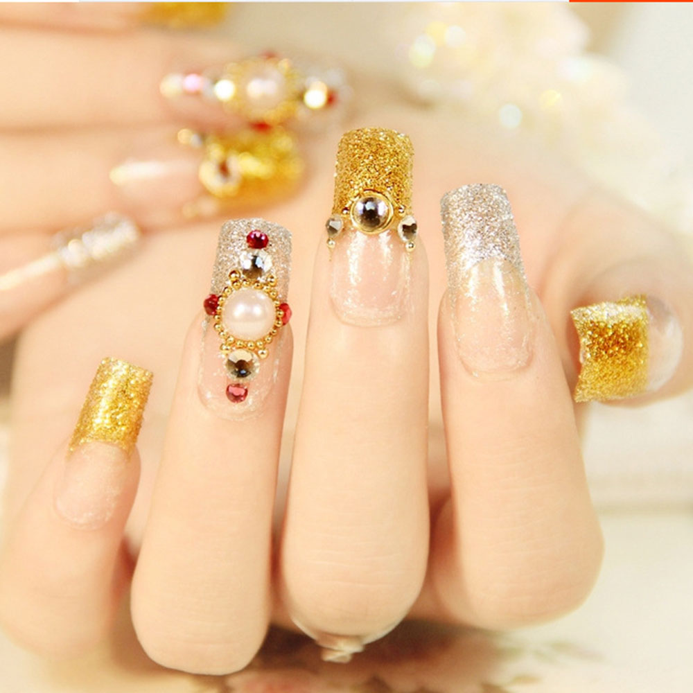 Fashion Nail Art Beads 0.8 1.3 mm 3D Nail Art Deco Gold/Silver/Rose ...
