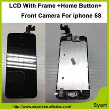 AAA Qualité Pas D'origine ensemble Complet LCD avec cadre La Maison bouton Caméra Écran Tactile digitizel lcd assemblée D'affichage pour iphone 5S