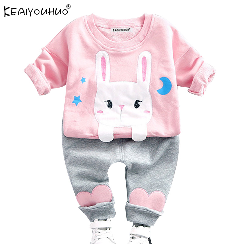 Autumn Baby Girl Clothes Sets Long Sleeve Baby Boy Cartoon Cotton Kids Clothing T-Shirt+Jeans Girls Clothes Sets Boys Sport Suit  new cotton toddler girls clothing sets kids clothes summer cartoon baby girl t shirt overalls suit costume with suspender shorts