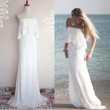 Скромное пляжное кружевное свадебное платье русалка 2021 без