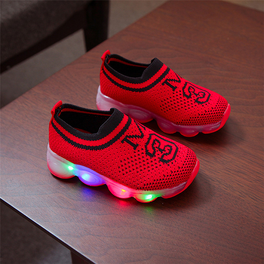 Glowing shoes colorful girls LED luminous laces flashing lights shoes kids sneakers lights boys sport shoes kids 40J24 (16)