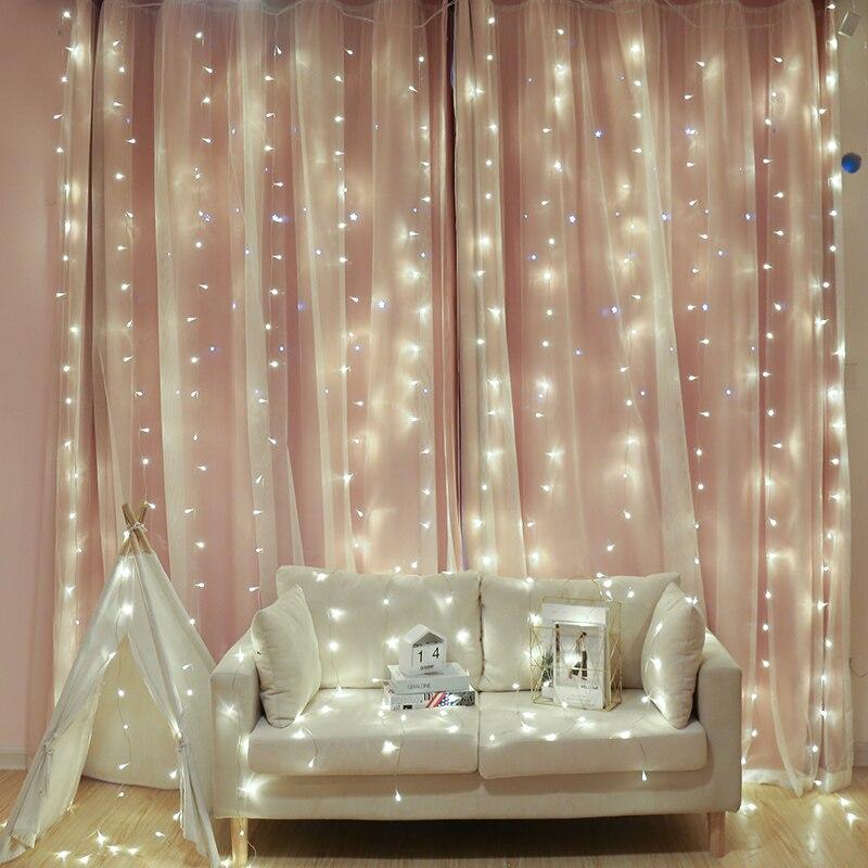 2M 200 guirlande LED rideau chaîne lumière intérieur Festival fête de mariage jardin Plaza fenêtre décoration extérieure noël lumière LED