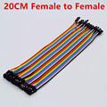 40 pcs em Row Dupont Cabo 20 cm 2.54mm 1pin 1 p-1 p Female to Female Jumper fio para Arduino Atacado