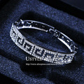 USTYLE Brand Design Platinum Plated G Style Top Austrian Rhinestone Paved Classic Bangle Bracelet for Women JB0074B