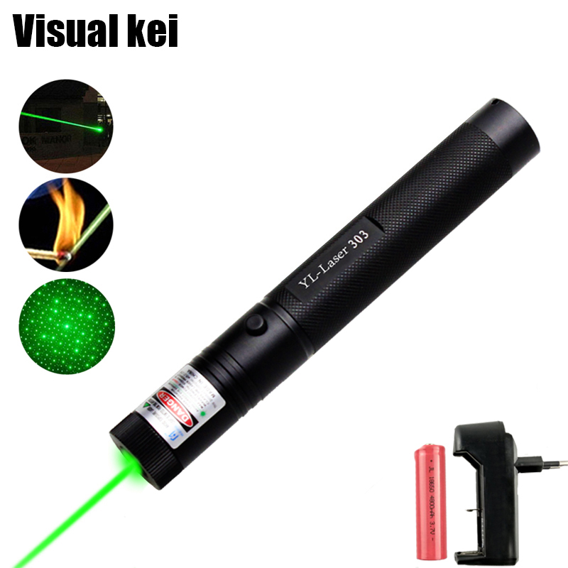 High Power 1000mW Green YL 303 Laser Pointer 532nm Lazer Pointer verde Pen Light Burning Beam Burn Match For 18650 Battery цена