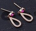 Guarantee Plain 925 Sterling Silver , CZ , Cubic  Earrings, 1.3 g, EA31217