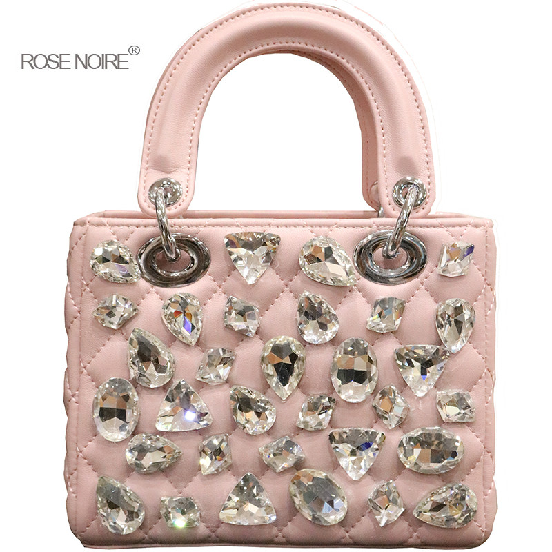 New Small Flap Chain Bags for Girls Luxury Diamonds Handbags Sac A Main Women Leather Shoulder Bags Ladies Messenger Bags gg bag fashion pu leather small women messenger bags for girls flap candy color shoulder long chain crossbody bag for women ladies sac
