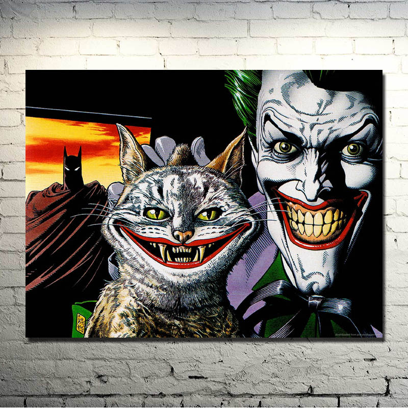 The Dark Knight Rises joker Movie Game Art Silk Fabric ...