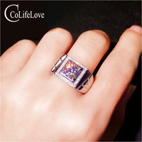 CoLife Jewelry 925 Silver Moissanite Ring for Man 1 Ct IF Grade Moissanite Man Ring Fashion Man Jewelry Free Jewelry Box