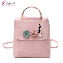 2017 искусственная кожа Мода сумка розовый белый рюкзак женская дизайнерская сумка школьные сумки для подростков рюкзаки девочки Многофункциональный сумки