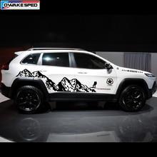 Горный Спорт на открытом воздухе наклейки автомобиля стиль двери боковой Декор Стикеры для Jeep Grand Cherokee Компас на Автомобильный кузов виниловый наклейка