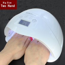 Twee hand 48 W Dual UV LED Nail Lamp Droger Gel Polish Curing Light met Bodem 30 s/60 s/99 s Timer lcd-scherm