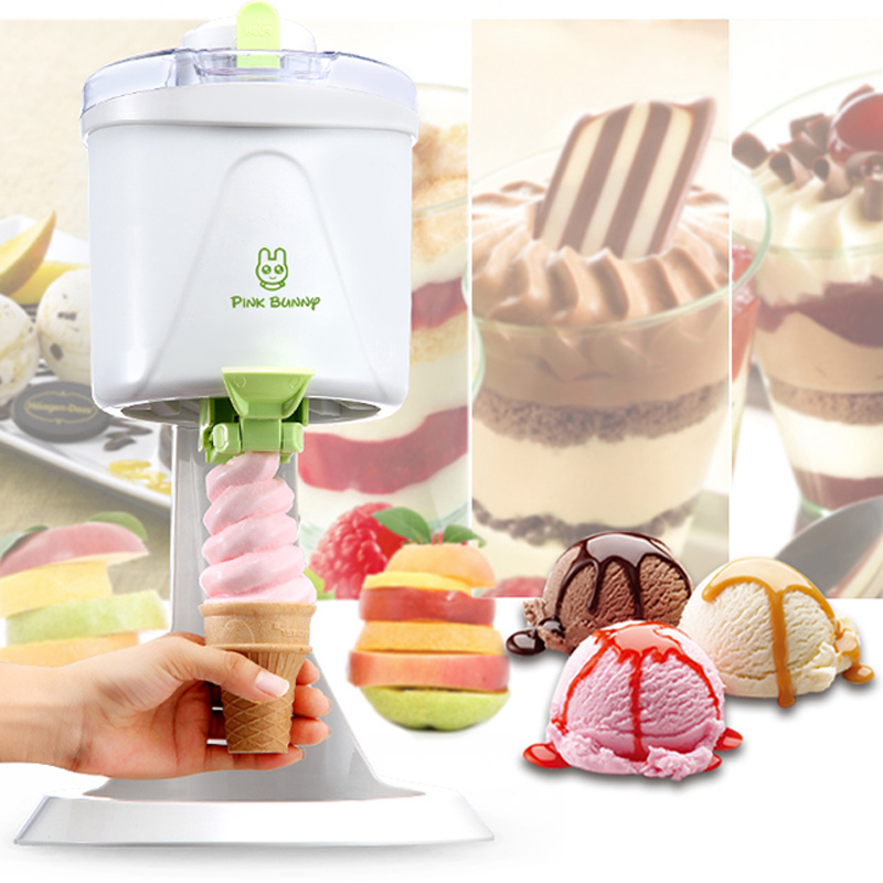 220V Commercial Electric Soft Ice Cream Machine Automatic Yogurt Machine Fancy Continuous Ice Crusher