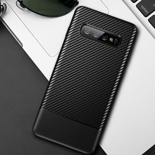 PHOPEER Silicone Case For Samsung galaxy S10 S 10 Plus for Galaxy S10E E Soft TPU Carbon Fiber Ultra Thin Cover