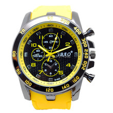 100 шт./лот SBAO мужские спортивные гоночные кварцевые часы модные повседневные силиконовый с большим циферблатом нарядные часы брендовые часы горячая распродажа