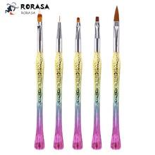 5pcs/set nail brush set Gradient mermaid handle nail drawing