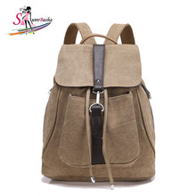 High-quality 2017 Autumn and Winter fashion Female retro backpack canvas backpack waterproof canvas bag men and women backpack
