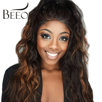 BEEOS 150% Density Ombre Human Hair Lace Wigs Brazilian Remy Human Lace Front Wigs With Baby Hair Bleached Knots Wigs For Women