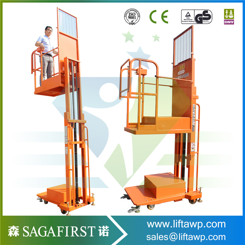 4m Semi-electric Order Picker Lifting Equipment For Warehouse Using
